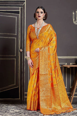 Casablanca Silk Zari  Saree with Blouse