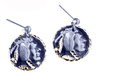 Indian Nickel Earrings