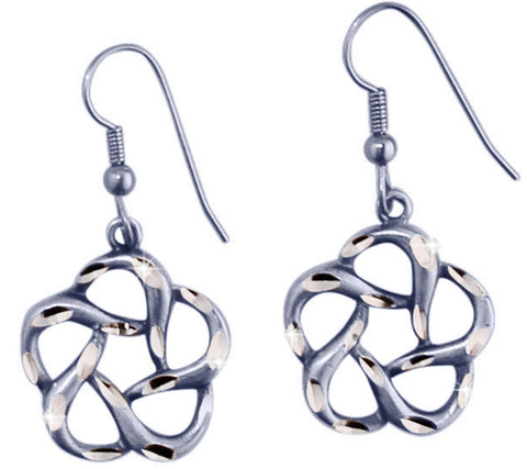 Swirl Flower Earrings