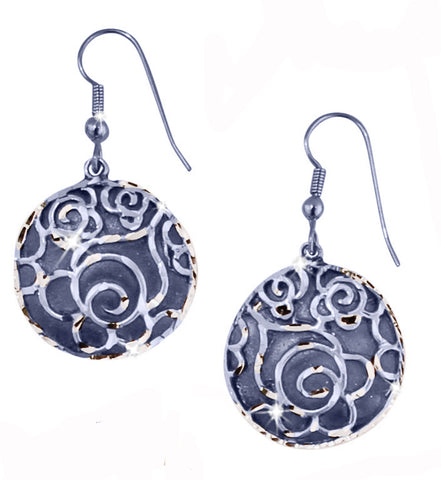Circle Rose Earrings