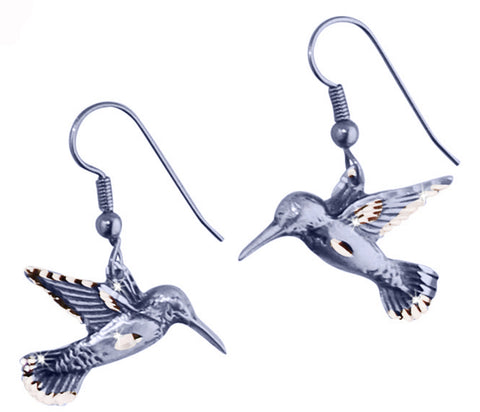 Flat Hummingbird Earrings