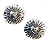 Concho Heart Earrings