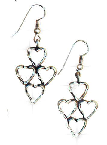 Four Heart Earrings