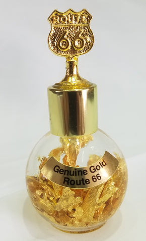 24 K Gold bottle with a Route 66 Shield