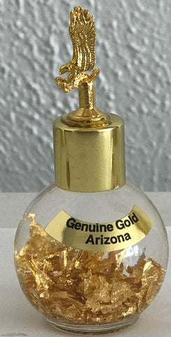 24 KT Gold bottle with an Flying Eagle