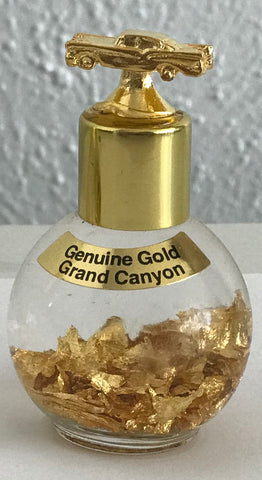 24 K Gold bottle with a Route 66 Car