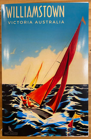 Williamstown Microfibre Tea Towel - Sailing