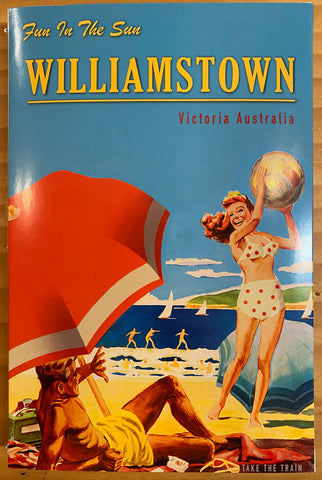 Williamstown Microfibre Tea Towel - Beach Umbrella