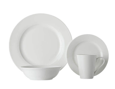 Maxwell & Williams White Basics Cosmopolitan Rim Dinner Set 16pce
