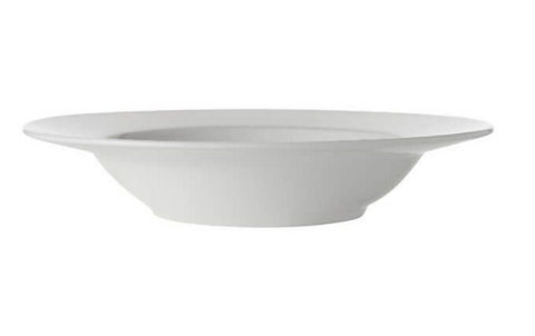 Maxwell & Williams White Basics Rim Soup Bowl 23cm