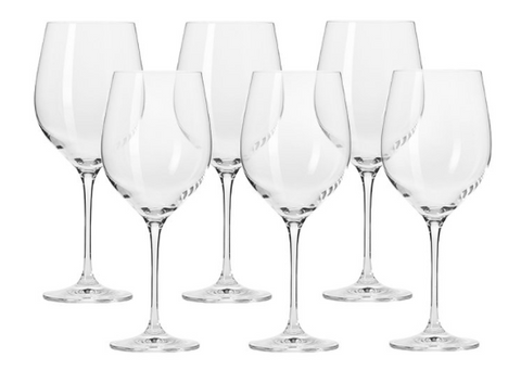Krosno Harmony Red Wine Glasses 450ml (set of 6)