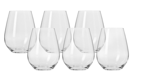 Krosno Harmony Stemless Red Wine Glasses 540ml