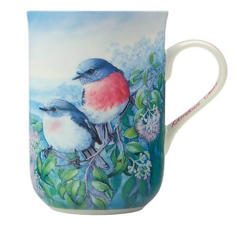 Maxwell & Williams Birds of Australia Mug Rose Robin