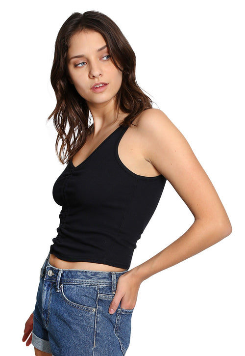 Crop Top Negro - Abercrombie & Fitch