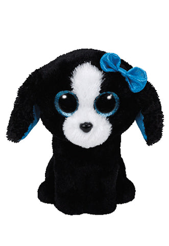 Peluche Tracey Black White Dog