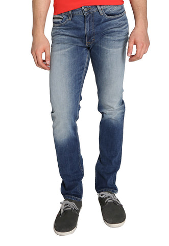Jeans Slim Straight Azul
