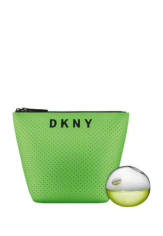 Set DKNY  Be Delicious 2pzs 30 ml Edp Spray + Cosmetic Bag