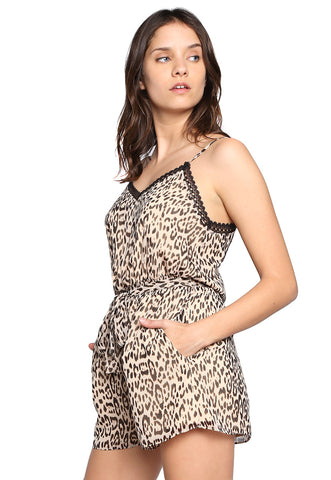 Jumpsuit con Tirantes Animal Print