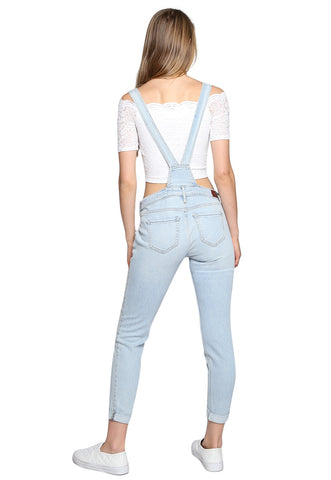 Supper Skinny Crop Overall Azul