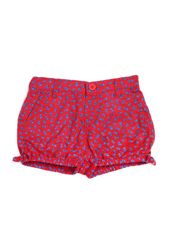 Short Rojo Floreado