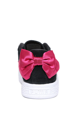 Tenis Negros Suede Bow