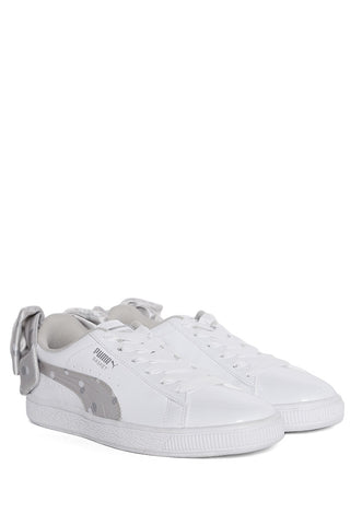 Tenis Blanco Basket Bow Dots Jr
