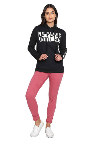 "Hoodie Negra ""No Plans for Today"