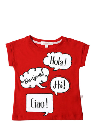 Playera Estampada Roja