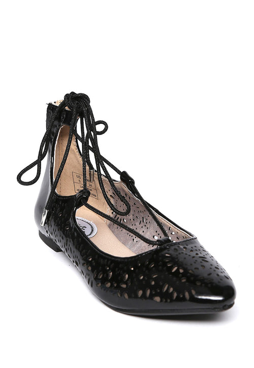 Flats Negro Lace Up - Steve Madden