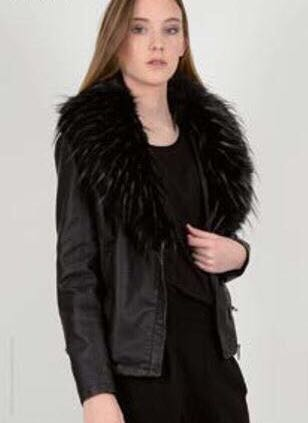 Molly Bracken Jacket With Removable Faux  Collar
