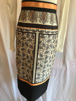 M. Miranda Straight Print Skirt