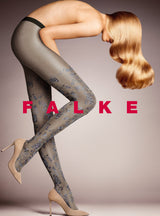 Falke Sparkle Mood Tights with Lurex Yarn and Floral Design 41153
