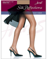 Hanes Silk Reflections Silky Sheer Pantyhose Sheer Toe 715