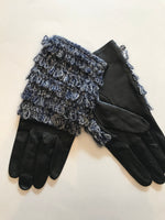 Echo Leather Glove With Yarn Fringe Detail