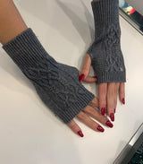FHTH Cable Wool Fingerless Gloves