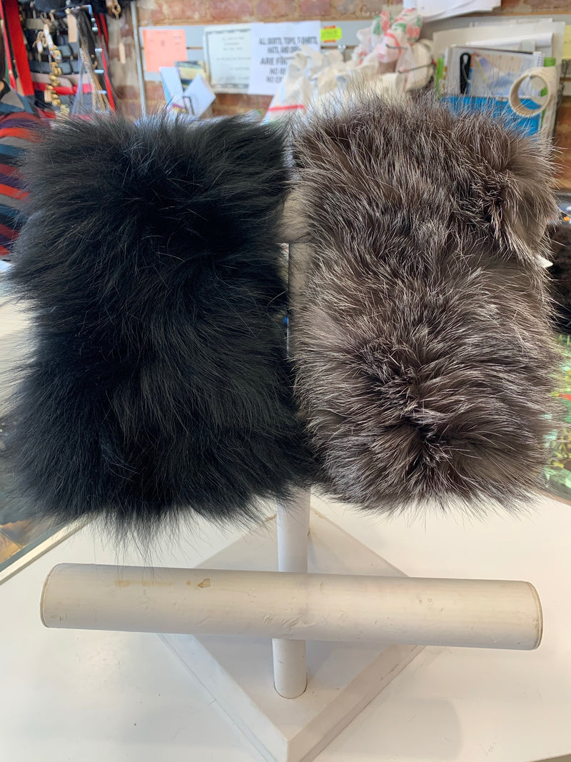 FHTH Fox Knit Fur Headwrap HBKS13