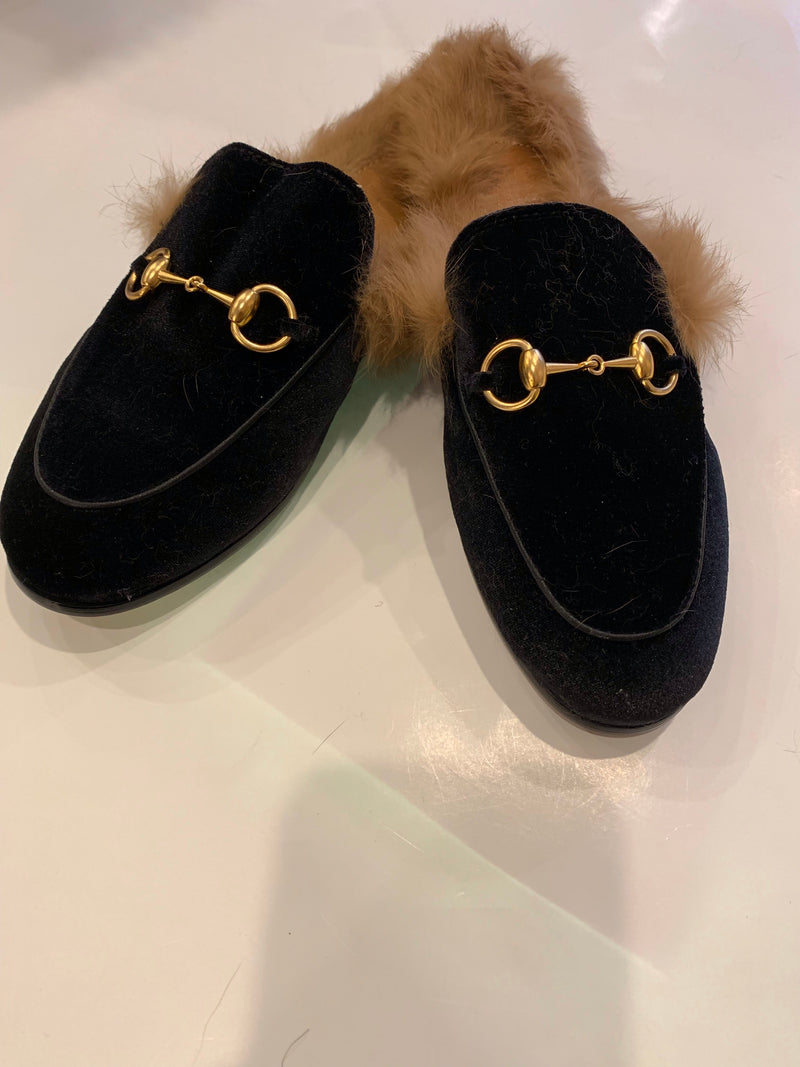 FHTH Velvet Mules with Fur