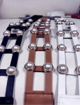 Two 12 Fashion Double Pearl Belt