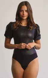 Commando Faux Leather Puff Sleeve Bodysuit BDS303