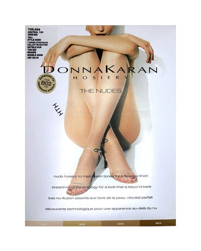 Donna Karan the Nudes Toeless Control  Pantyhose AO69