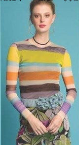 Petit Pois Multi Colored Striped Top