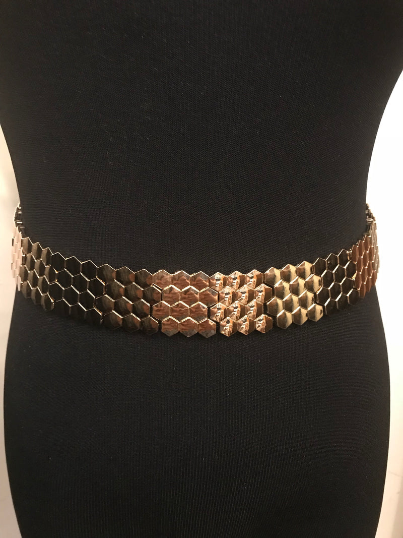 Two 12 Fashion Gold  Honey Comb Belt