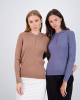 24/7 Ribbed Top With Collar
