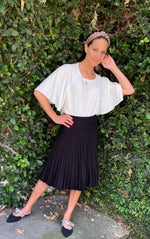 Mia Mod Year Round Pleated Skirt Black