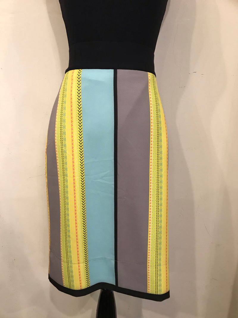 Belissa Colored Stripes Straight Skirt
