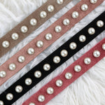 Two 12 Velour Pearl Belt