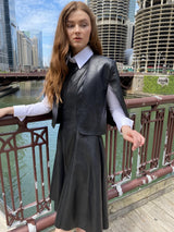 Apparalel Leather Dress and Capelet Set