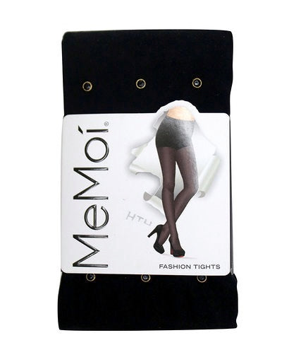 Memoi Black Diamond Opaque Tights