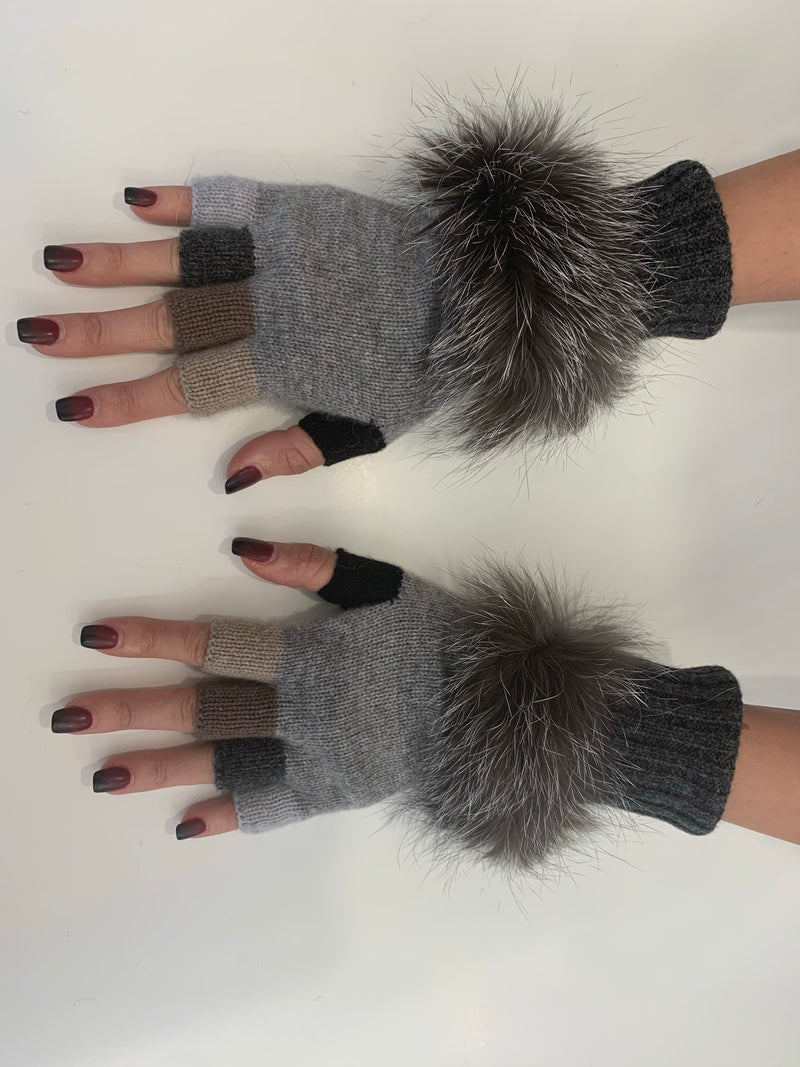 FHTH Knit Fingerless Texting Glove