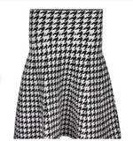 Mia Mod Year Round Houndstooth Skirt Purple Label